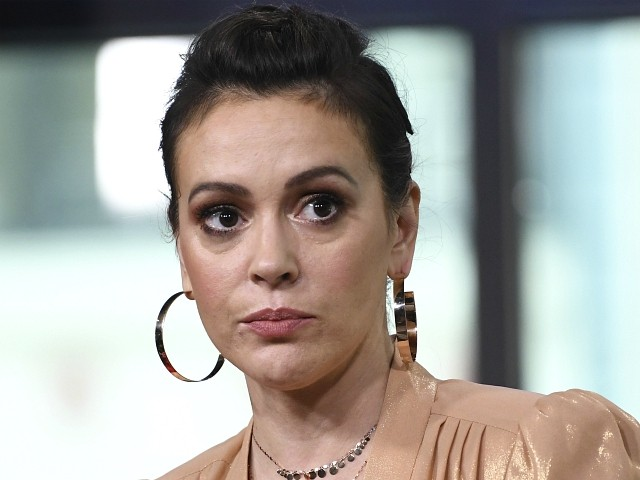 Alyssa Milano Promotes Debunked Jimmy Kimmel Video Maligning Mike Pence: 'F*ck the GOP and This Administration'