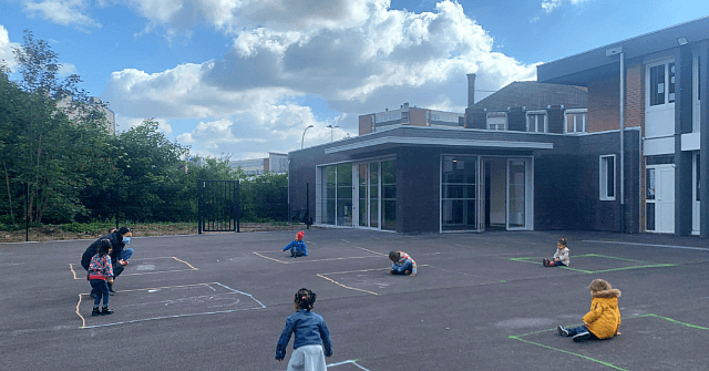 French Children Confined to Dystopian 'Play Squares' as Schools Reopen