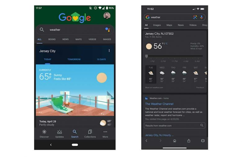 Google's Search app finally has a dark mode