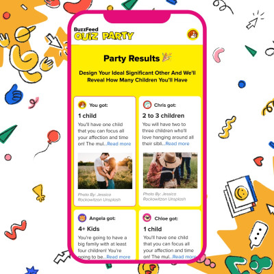 With BuzzFeed's new feature, you can take a Quiz Party with friends