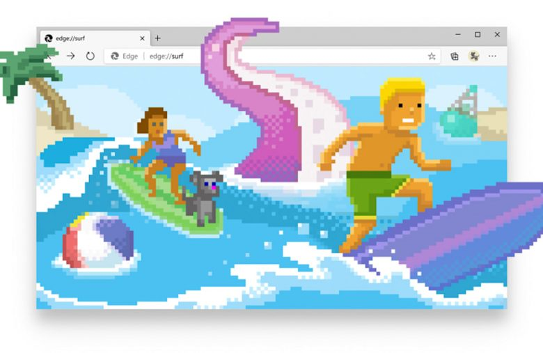 Microsoft Edge has a cute game to play when you're offline