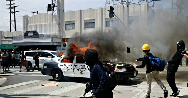 L.A. Riots Spread to Fairfax District, Beverly Hills, Officials Impose Curfew