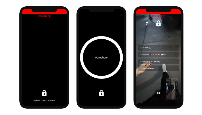 Mobile safety app Parachute's new feature prevents anyone from turning off your live-streamed video