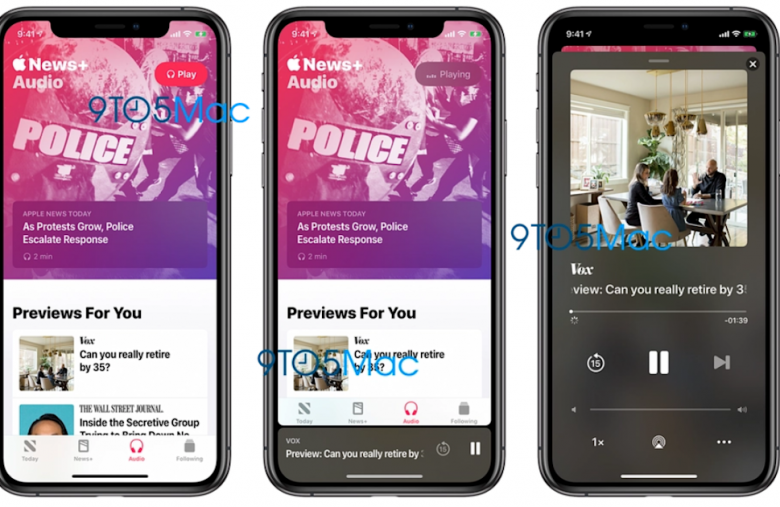 Apple News+ will feature audio versions of stories, iOS update shows