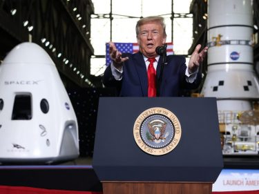 The Dow Is Euphoric as Trump Boasts That the Economy's a 'Rocket Ship'