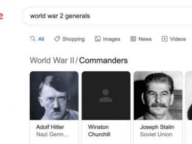 Churchill Image Disappears from Google Search Results, But Not Hitler