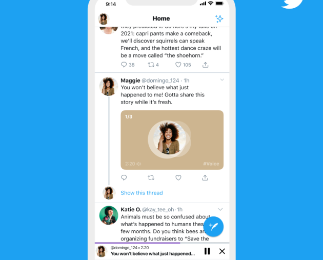 Twitter test lets users post voice messages for 'a more human touch'
