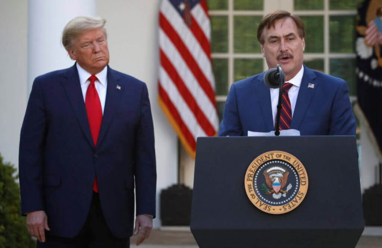 Trump Has Found a Human Comforter in My Pillow CEO Mike Lindell