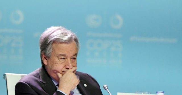 U.N. Chief Guterres Calls for One Supreme Body of 'Global Governance'
