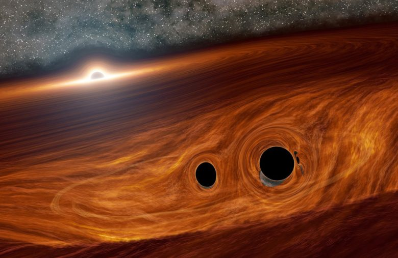 Astronomers may have spotted light from colliding black holes