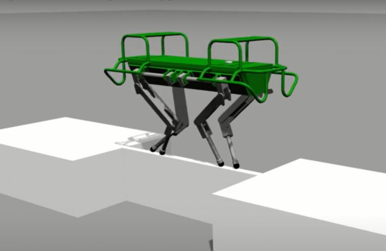 Researchers trained a quadruped robot to cross a balance beam