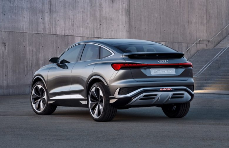 Audi says its Q4 Sportback e-tron concept has a 'sexy back'