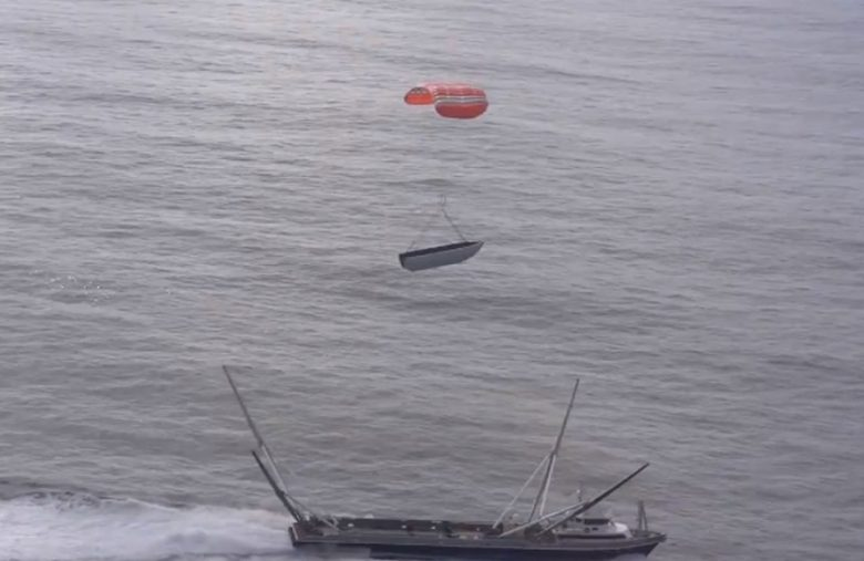 SpaceX pulls off its first double fairing catch after a Falcon 9 launch