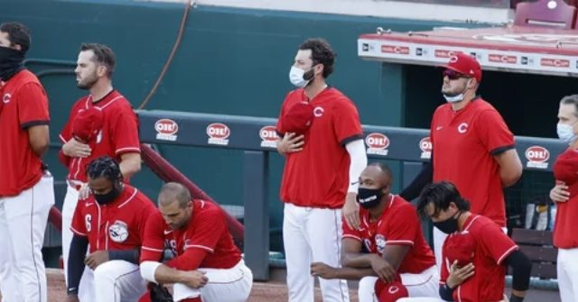 Reds Social Media Accounts Post 'Black Lives Matter,' as Players Kneel During Anthem