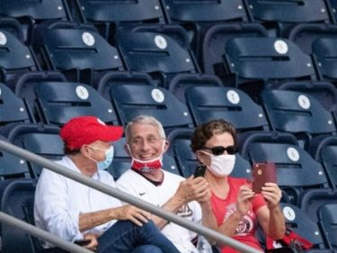 Critics Taunt Dr. Anthony Fauci for Watching Baseball Game Without a Mask