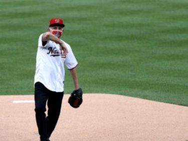 WATCH: Dr. Fauci Throws Out First Pitch at Nats Game