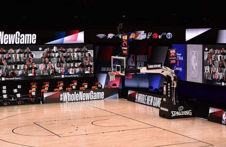 The NBA will use Microsoft Teams to virtually seat fans courtside