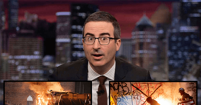 HBO's John Oliver Downplays Violent Protests in Portland as 'Mostly Peaceful'