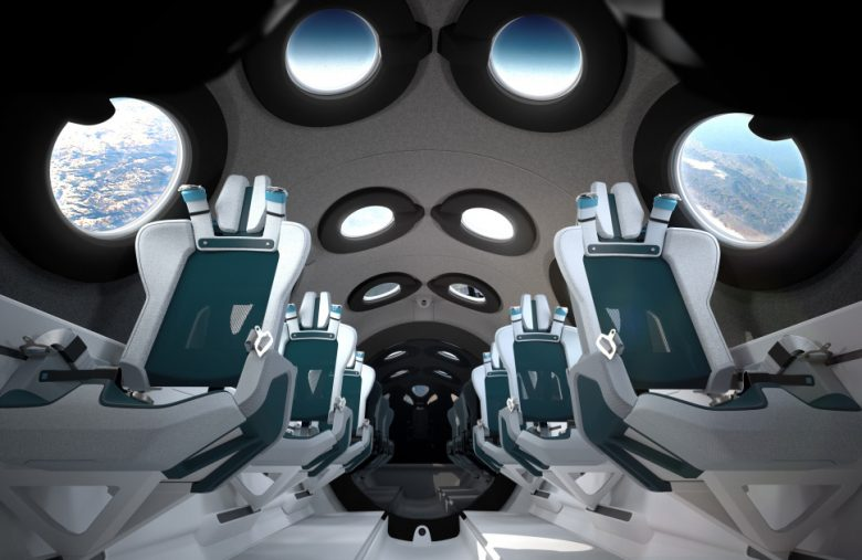Virgin Galactic's SpaceShipTwo cabin surrounds you with windows