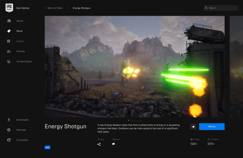 Epic Games Store adds support for community-made mods