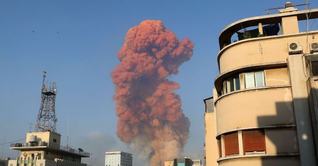 Massive Explosion Rocks Port District of Beirut, Lebanon