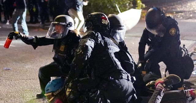 Police: Rioters Throw Rocks, Chunks of Concrete at Portland Officers
