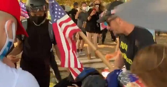 WATCH: BLM Activists, Trump Supporters Brawl in Park in Beverly Hills