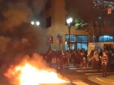 Portland Rioters Burn Minority-Owned Office in Building with Residents