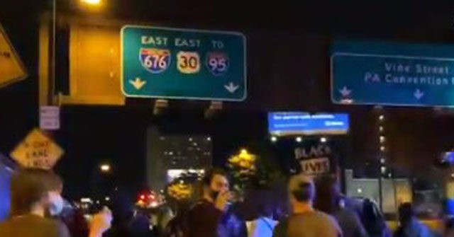 Watch: Protesters Attempt to Block Highway Traffic in Philadelphia