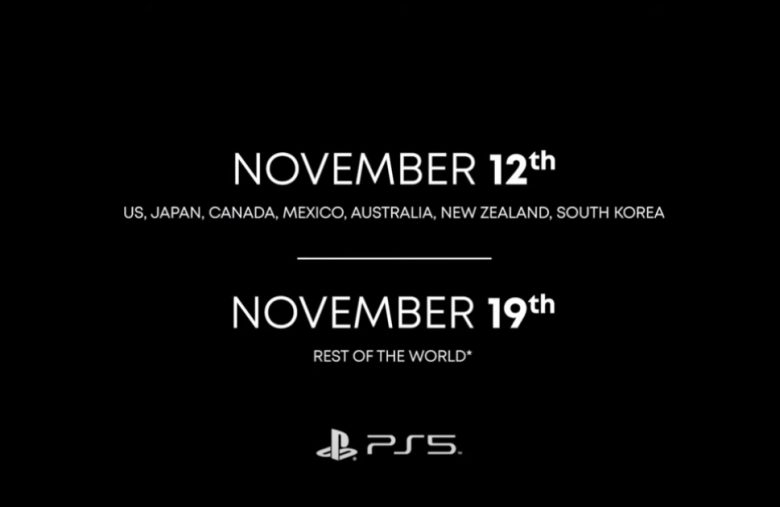 Most of the world won't get the PS5 until November 19th