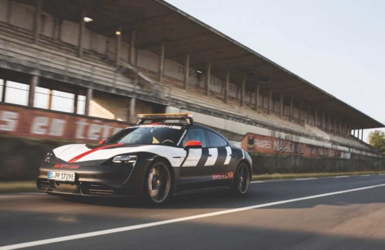 Porsche debuts its Taycan safety car at Le Mans