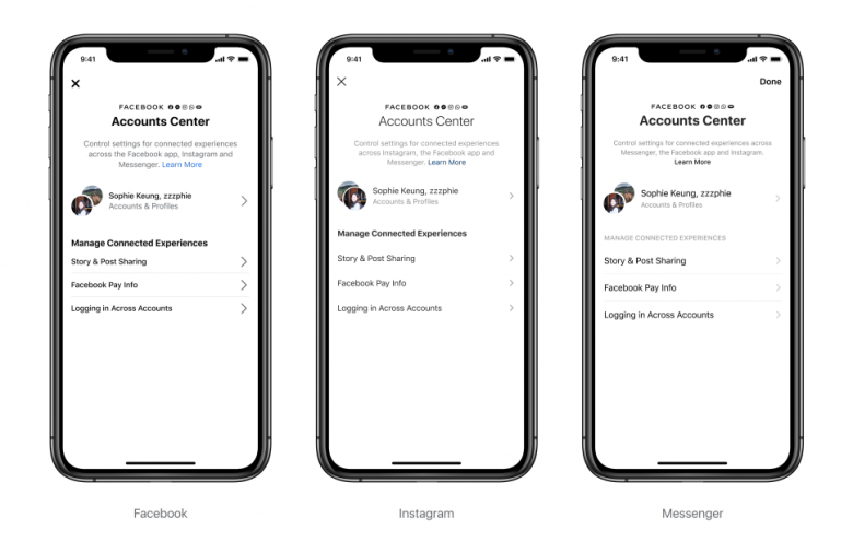 Facebook's Accounts Center lets you cross-post to Instagram