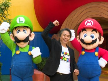 Shigeru Miyamoto gives a tour of the Super Nintendo World theme park